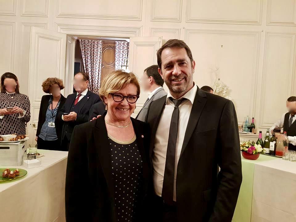 Patricia Gallerneau et Christohe Castaner le 24 janvier 2018 © Souvenirs sur la page Facebook de Patricia Gallerneau.