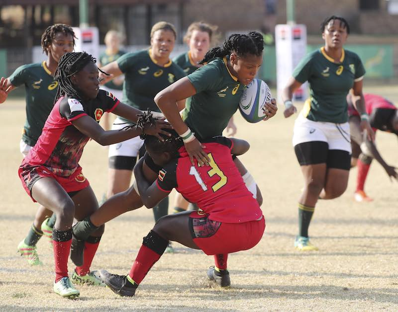 Rugby World Cup African Qualifiers : South Africa defeated Uganda on Friday in Johannesburg during the Rugby Africa Gold Cup © Rugby Africa.