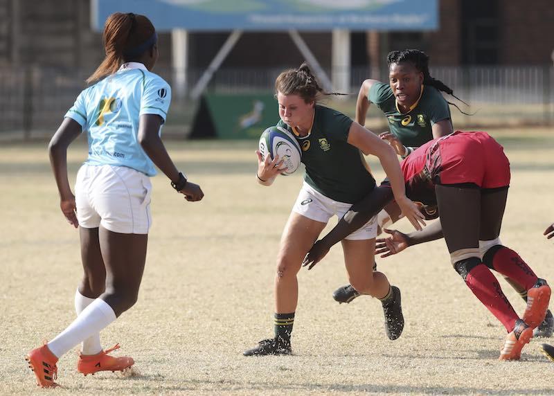 Coupe du Monde de Rugby - Qualifications Africaines : l'Afrique du Sud bat l'Ouganda à Johannesburg lors de la Coupe d'Or d'Afrique de Rugby © Rugby Africa.