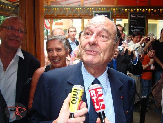 Jacques Chirac interviewé en 2010 à la Rhumerie dans le 6e arrondissement de Paris © VD/PT.