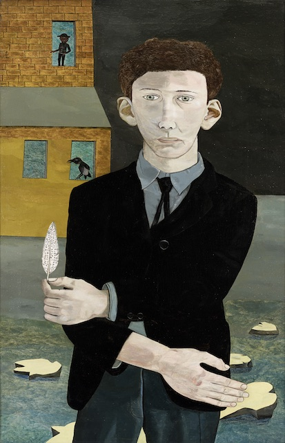 Man with a Feather, 1943, oil on canvas, 76,2x50,8cm, private collection©The Lucian Freud Archive/Bridgeman Images