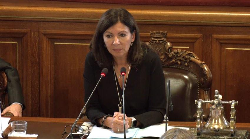 Anne Hidalgo critique les décisions du préfet de police de Paris © conseil de Paris le 2 octobre 2019 à 16h - capture d'écran.