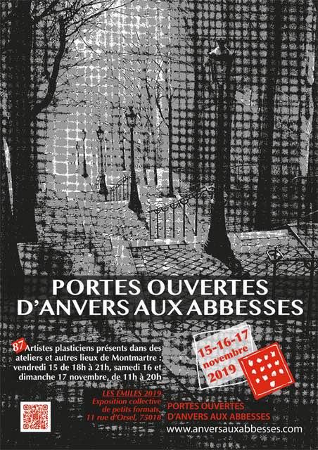Les Portes Ouvertes des Ateliers des Artistes d'Anvers aux Abbesses le 3e week-end de novembre
