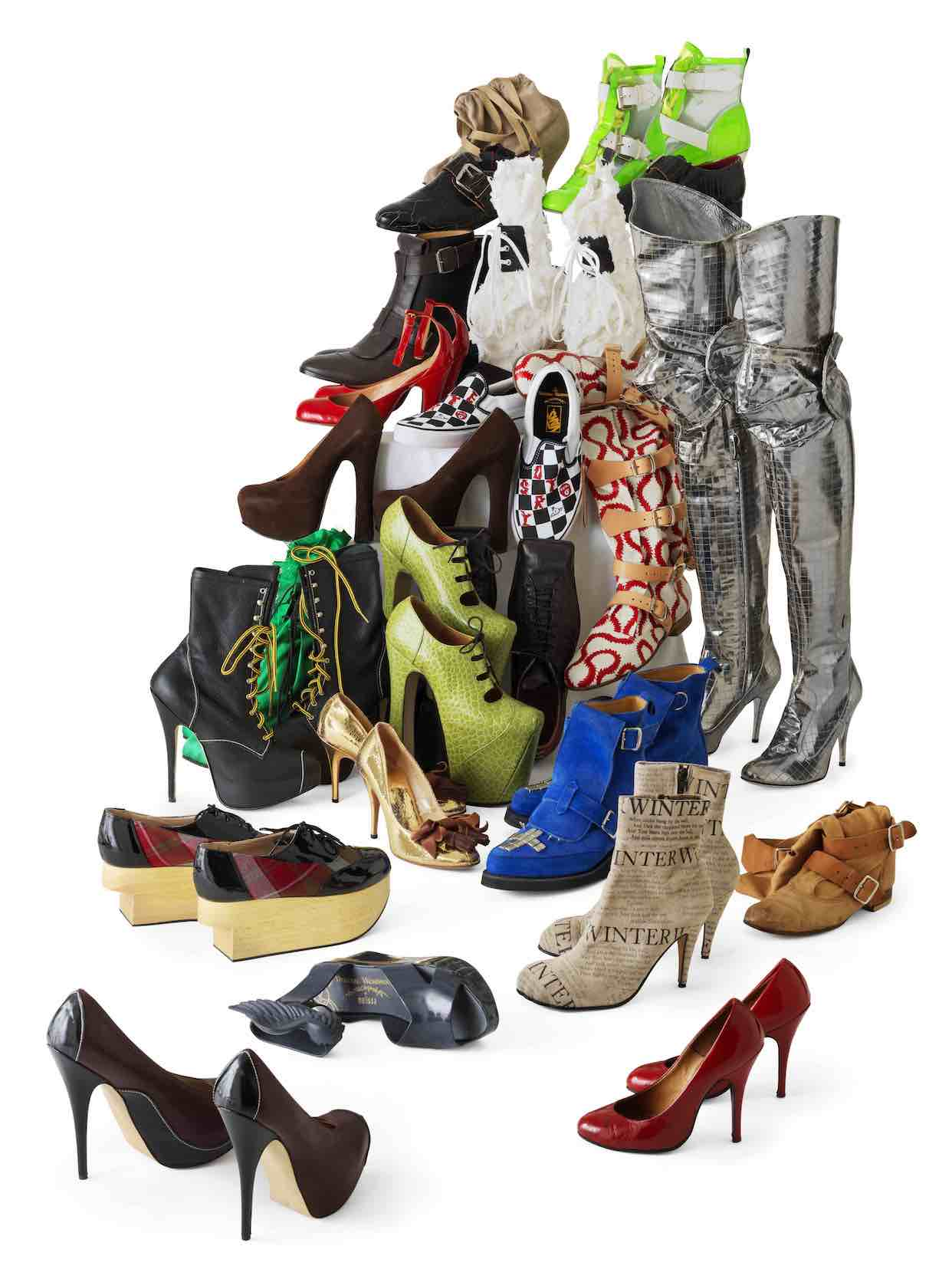 V.Westwood, Footwear, collection of Lee Price©Pierre Verrier, Musée des Tissus, Lyon