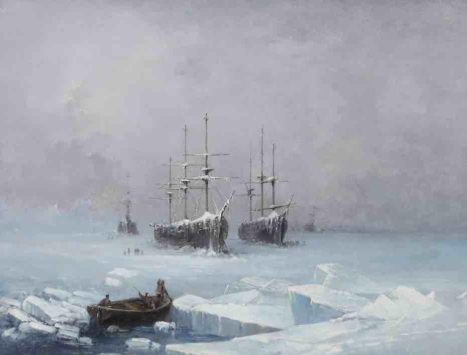 Biard, View of Glacial Ocean: fishing walrus by Greenlanders, 1844©RMN-Grand Palais, Philippe Bernard