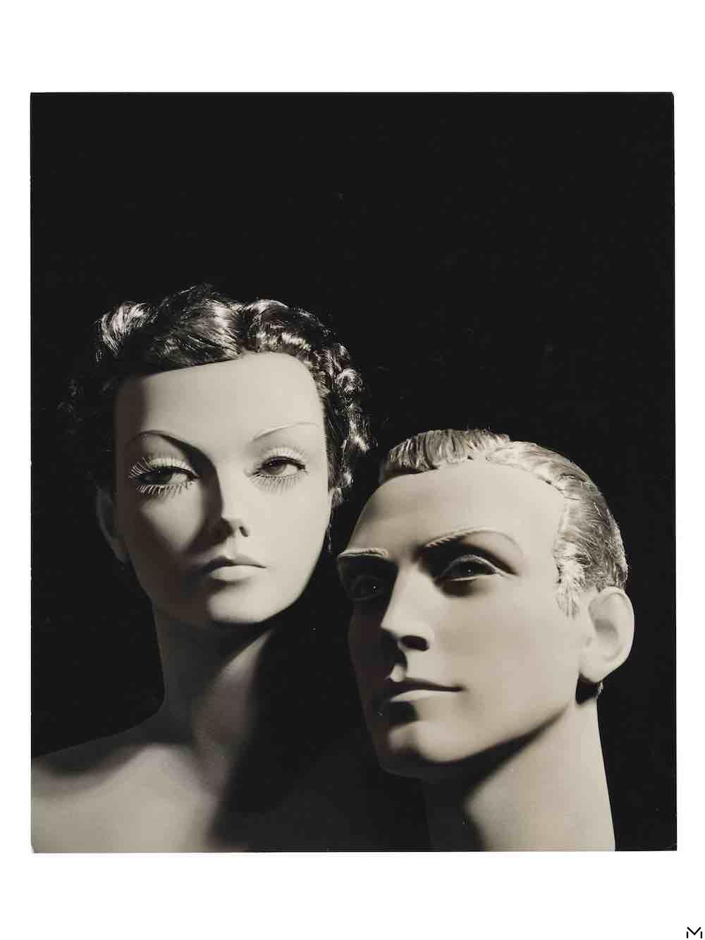 Double portrait of wax mannequins, 1925-1930, gelatine-silver print, Jean Collas © MAD Paris Christophe Dellière