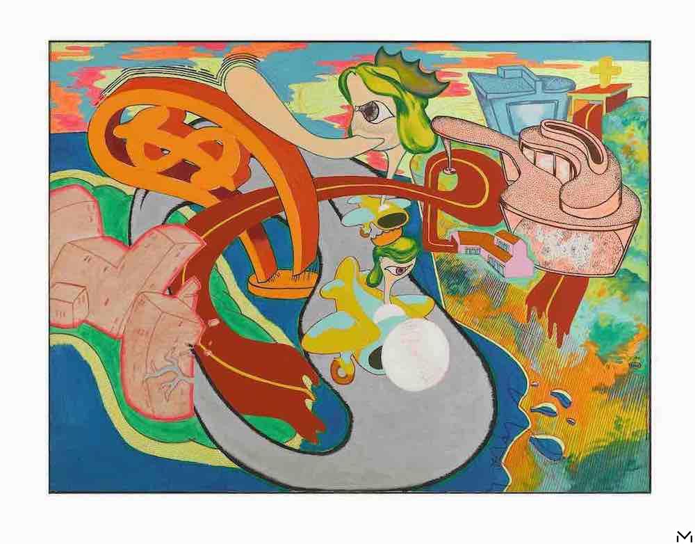 Peter Saul, San Francisco no.2, 1966, fluorescent oil on canvas, 120,5x161,5 cm, coll. MAC, Marseille © ADAGP Paris 2020, Photo Ville de Marseille, distribution RMN Paris, Benjamin Soligny / Raphaël Chipault