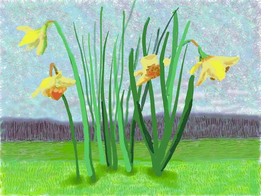 David Hockney, No.118, 16th March 2020, iPad painting © David Hockney