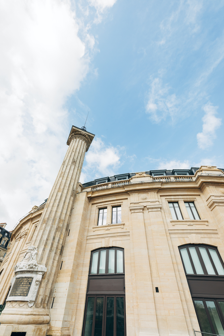 Exterior view, March 2020 with Medici Tower, Bourse de Commerce - Pinault Collection©Tadeo Ando architect&associates, Niney&Marca architects, Pierre-Antoine Gatier,photo Vladimir Partalo