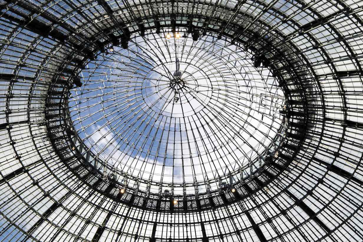 The glass dome letting in natural in March 2020©Tadeo Ando architect&associates, Niney&Marce associates, Agence Pierre Antoine Gatier, photo Marc Domage
