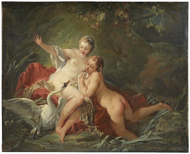 François Boucher (1703-1770), Léda et le Cygne, 1742, oil on canvas, Stockholm, National Museum©National Museum, Stockholm