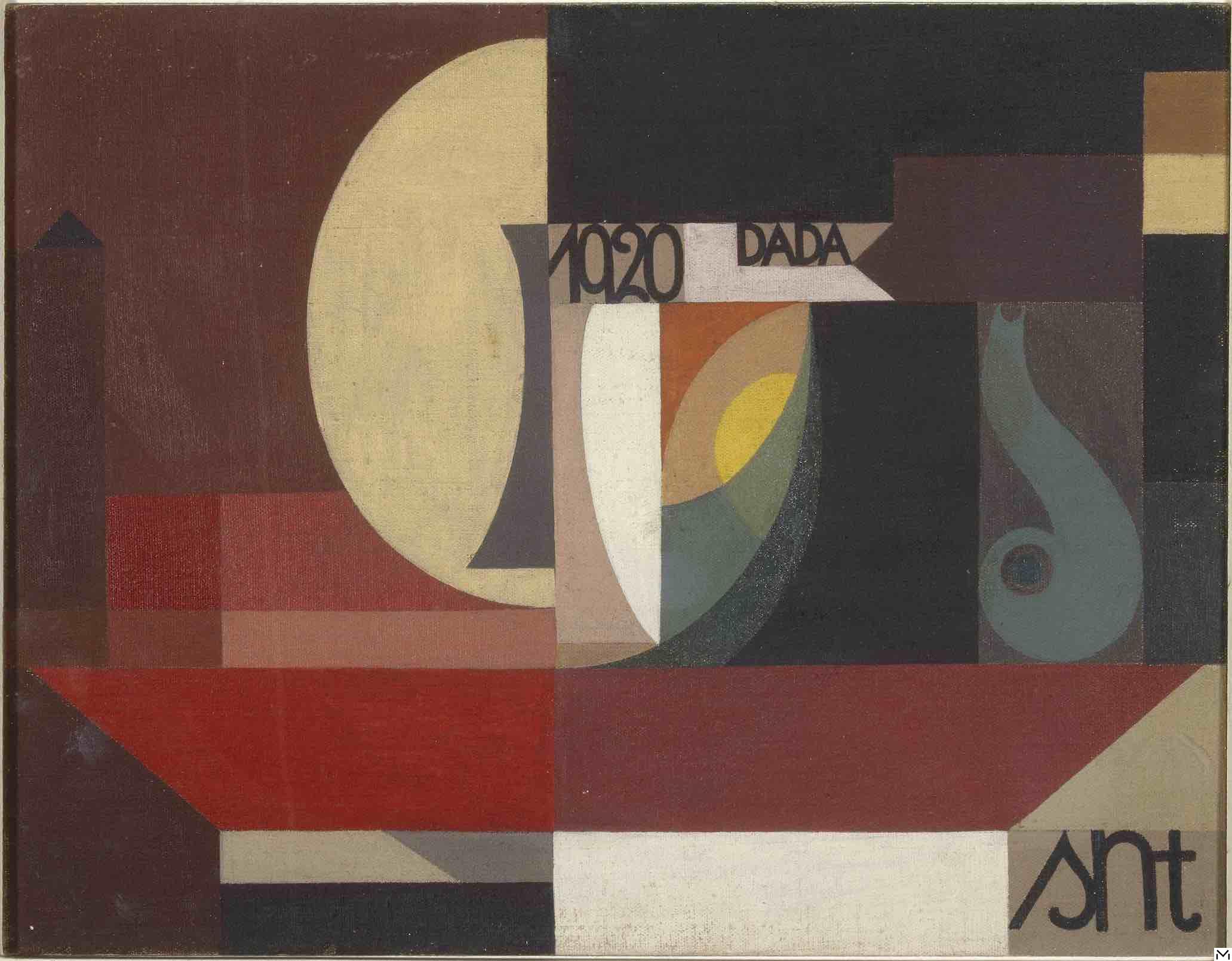 Sophie Taeuber-Arp, composition Dada (Tête au plat), 1920 © Centre Pompidou, MNAM-CCI/Georges Meguerditchian/dist. RMN-GP