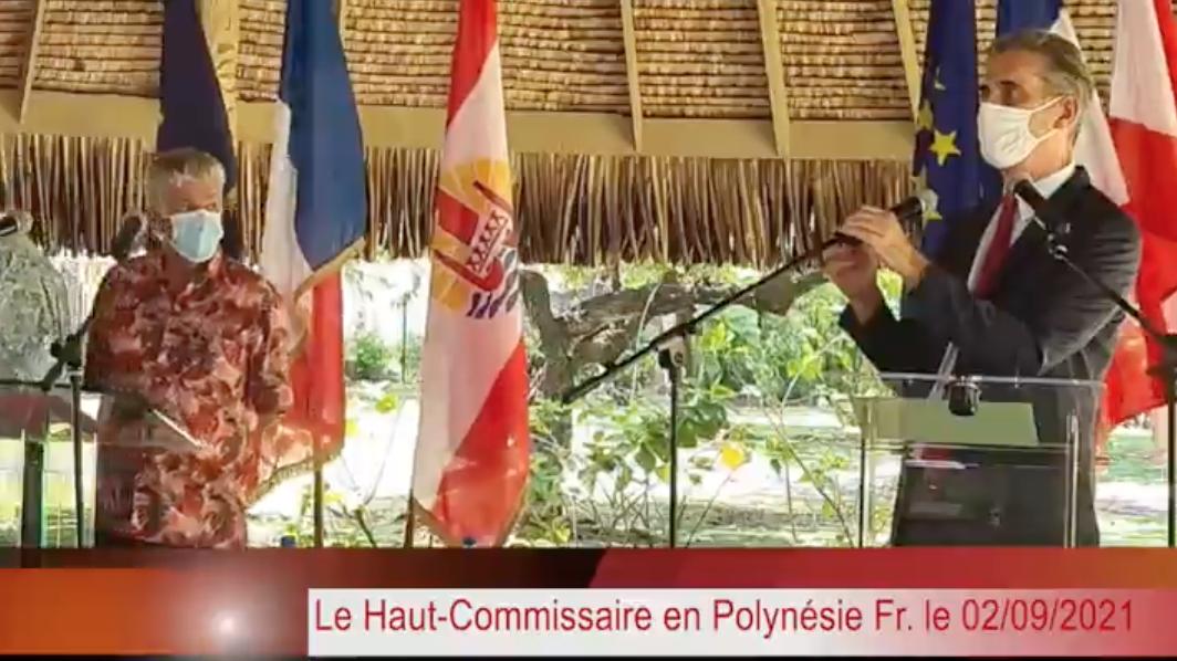 Dominique Sorain, Haut-Commissaire en Polynésie française le 2 septembre 2021