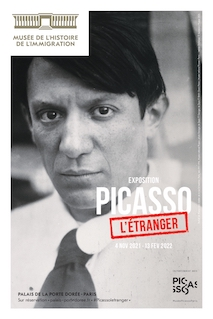 Poster of the exhibition Picasso L'Etranger