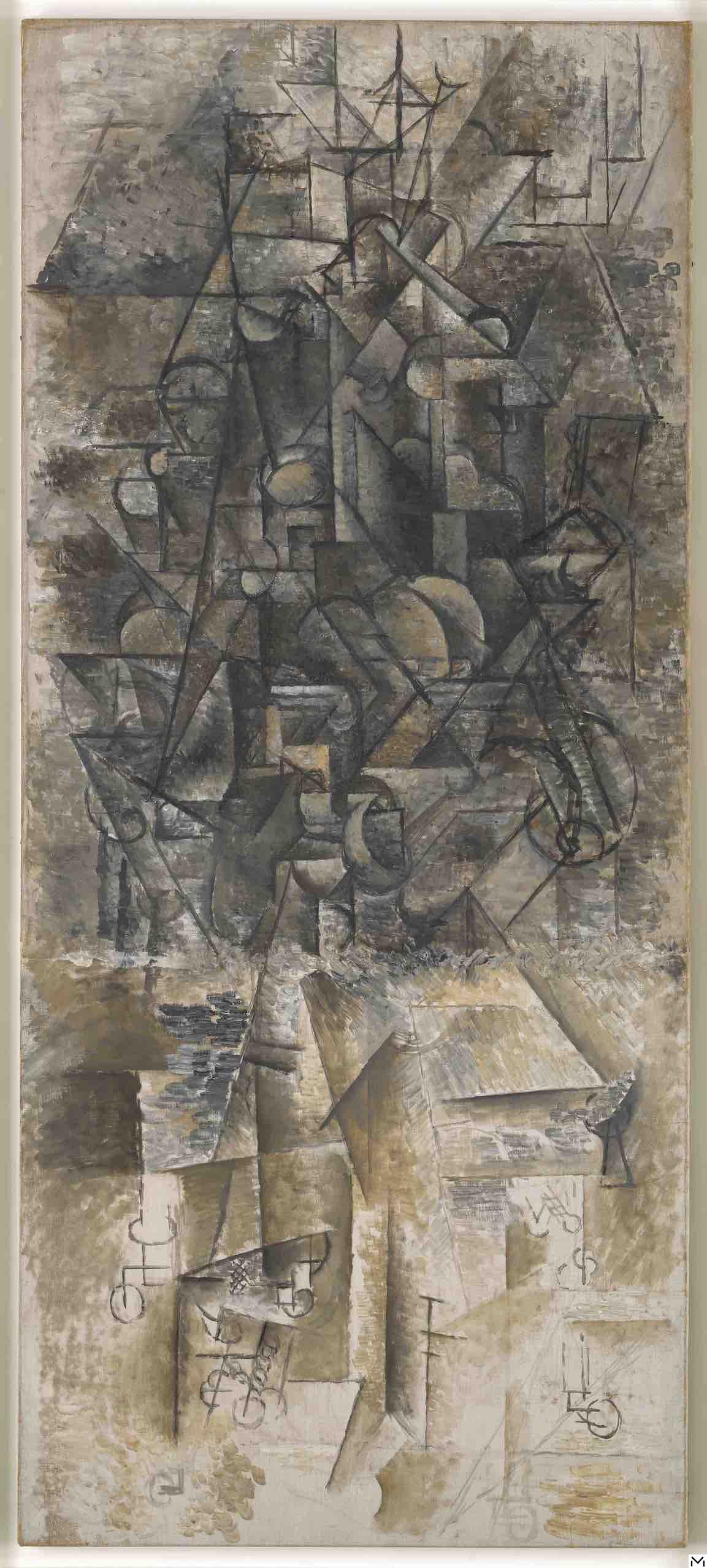 Pablo Picasso, Un homme à la Mandoline, autumn 1911, Musée National Picasso Paris©RMN-Grand Palais/photo Adrien Didierjean