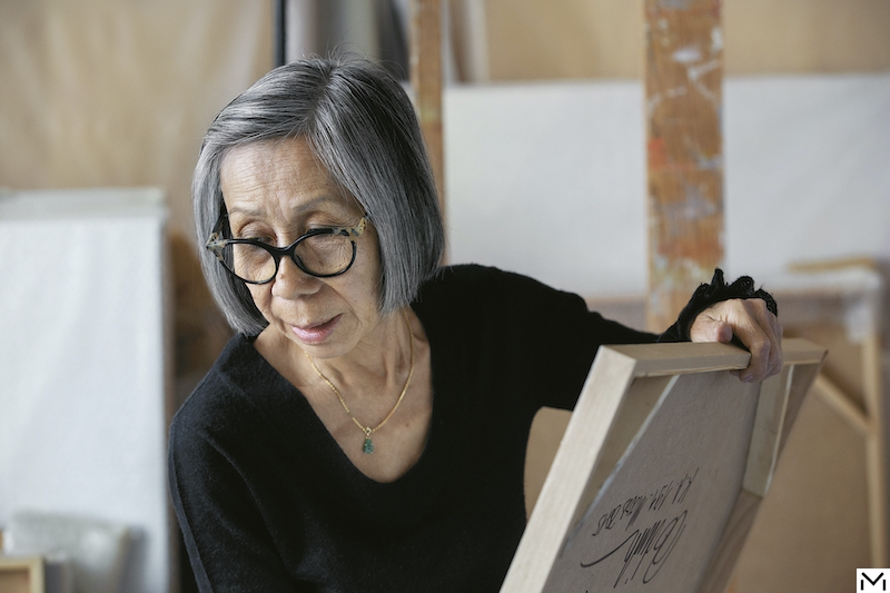 portrait of Huong Dodinh in her atelier © Jacques Habbah