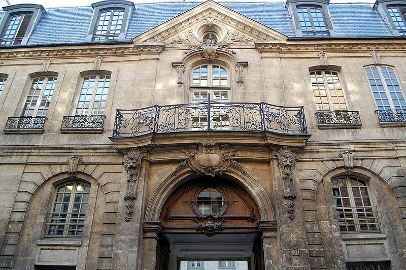 Hôtel d'Albret, siège de la Direction des Affaires Culturelles de la Ville de Paris, rue des Francs-Bourgeois, Le Marais - Crédit photo : Pline sous licence creative commons.