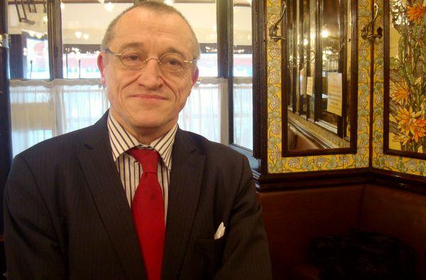 Paul Marie Couteaux à la Brasserie Lipp à Saint-Germain-des-Prés - Photo : VD.
