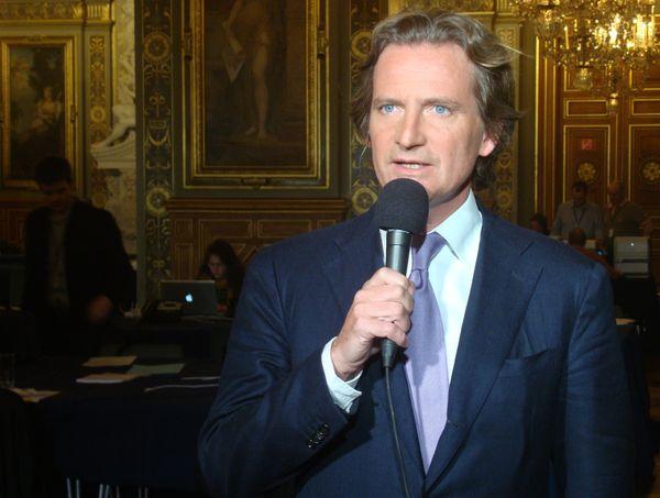 Charles Beigbeder à l'Hôtel de Ville le 23 mars 2014 à 21h40 - Photo : VD.