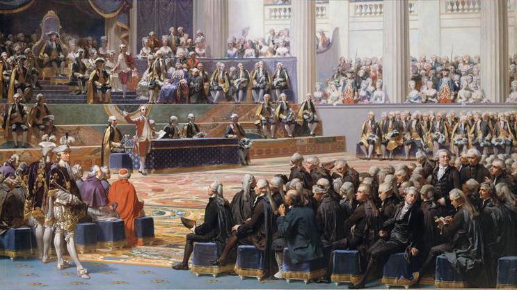 Ouverture des Etats Généraux à Versailles le 5 mai 1789 - Tableau d'Auguste Couder, 1839, Musée de l'Histoire de France (Versailles) Catalogue Joconde.