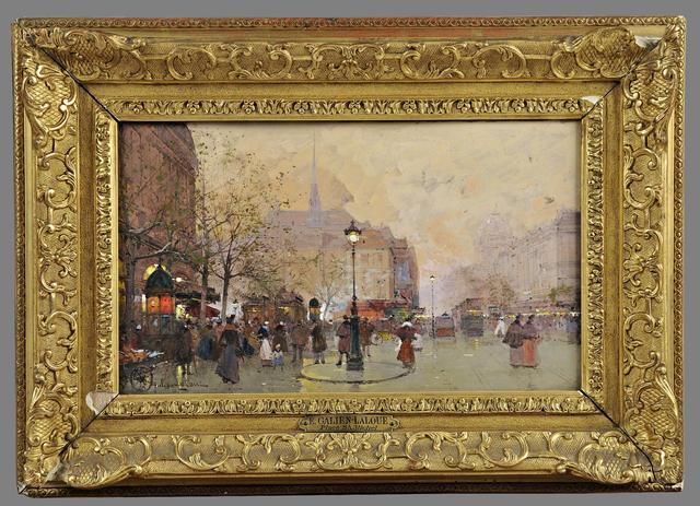 Galien Laloue Eugène (1854-1941) La Place Saint-Michel - Maître Etienne Laurent à Vichy.