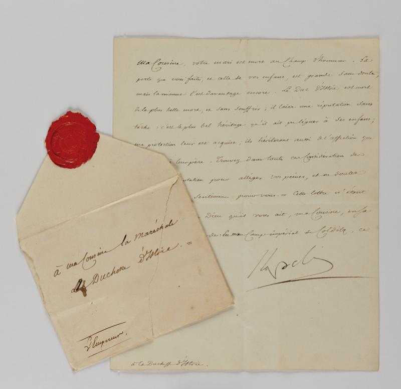 Lot 35 Napoléon 1er à la Maréchale Bessières © Maître Jean-Pierre Osenat et Osenat Fontainebleau - Estimation : 4.000 à 5.000 €, frais en sus à 25 % TTC.