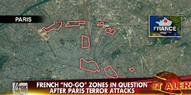 Carte de Paris diffusée par Fox News le 14 janvier 2015 © capture d'écran Fox News.