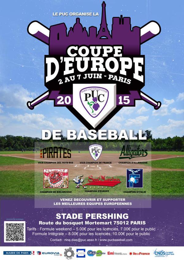 Le Baseball américain à Paris du 2 au 7 juin