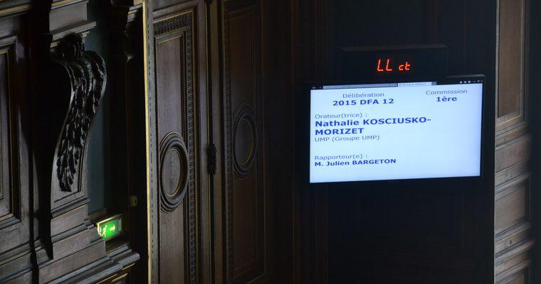La mention Groupe UMP toujours d'actualité au conseil de Paris le 29 juin 2015 © VD.
