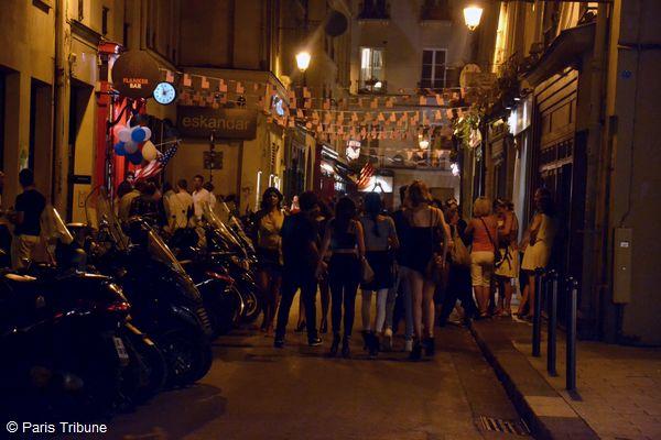 La rue Princesse aux couleurs des Etats-Unis le 4 juillet 2015 © VD.
