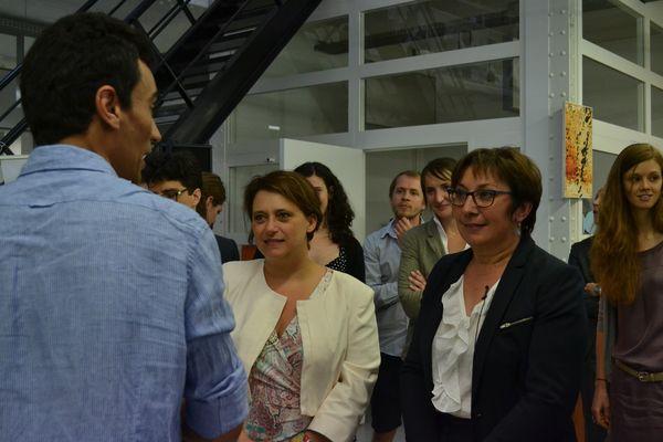 Les représentantes de Paris et du gouvernement à la rencontre des entrepreneurs porteurs de projets à impact social ou environnemental © AC - PT.
