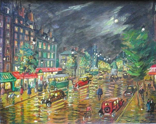 Boulevard à Paris, lot n°60 Korovine, Etude JP Besch.