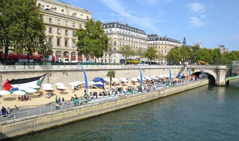 Gaza Plages à Paris le 13 août 2015.