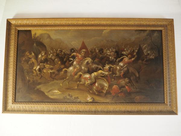 """""""Bataille de cavalerie contre les Maures"""" © Etude SADDE à Dijon."""