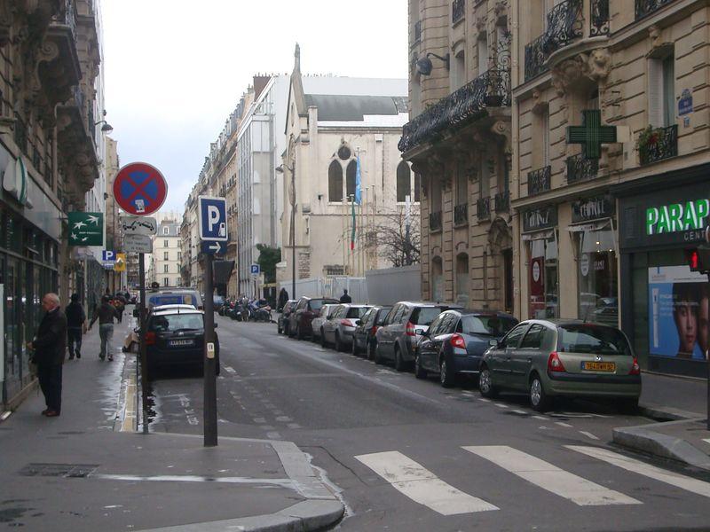 La rue François Bonvin est perpendiculaire à la rue Lecourbe © Archives Paris Tribune.
