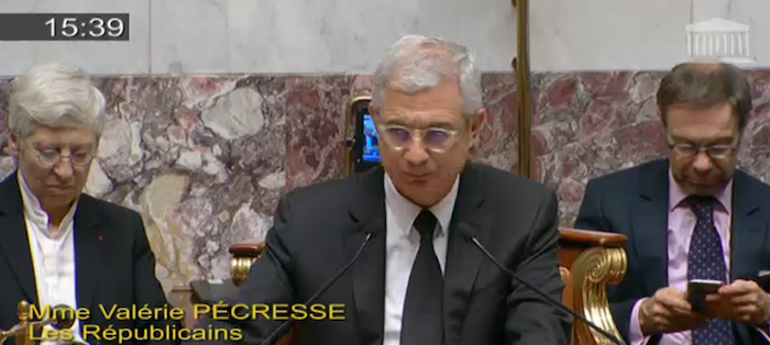 Claude Bartolone préside les questions au gouvenement d'où il était absent depuis la mi-septembre 2015 © capture d'écran Assemblée nationale.