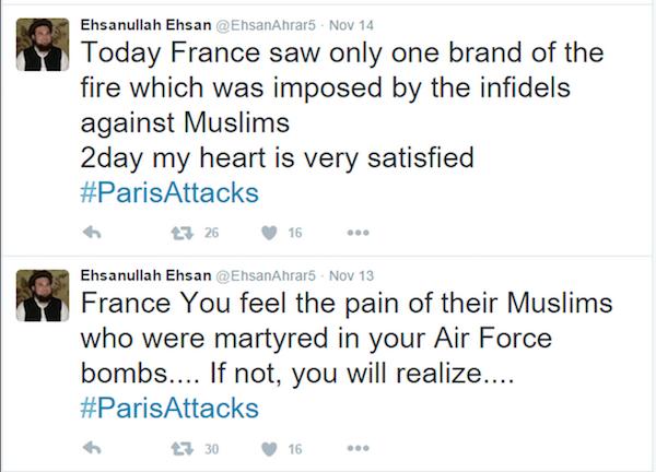 Les partisans de Daesh ne se cachent plus © capture d'écran Twitter.