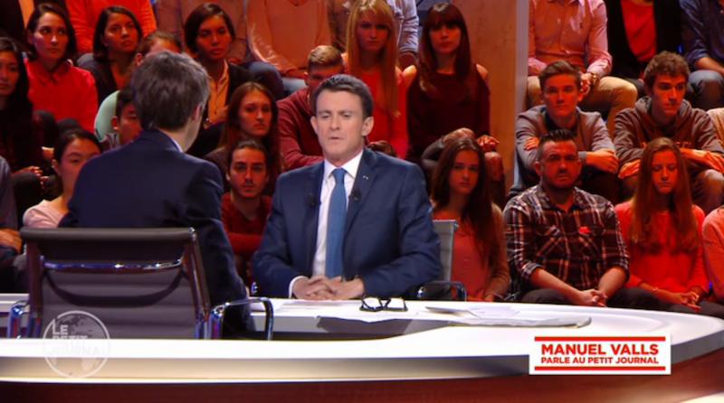 Manuel Valls face aux Français dans Le Petit Journal de Canal Plus le 24 novembre 2015 © capture d'écran LPJ.