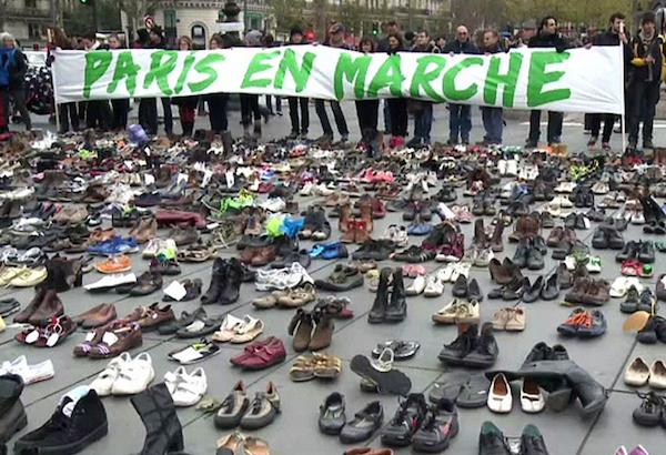 Manifestation Paris en marche le 29 novembre 2015 place de la République © EC