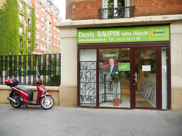 La permanence de Denis Baupin près de la Porte d'Orléans dans le 14e arrondissement © Paris Tribune