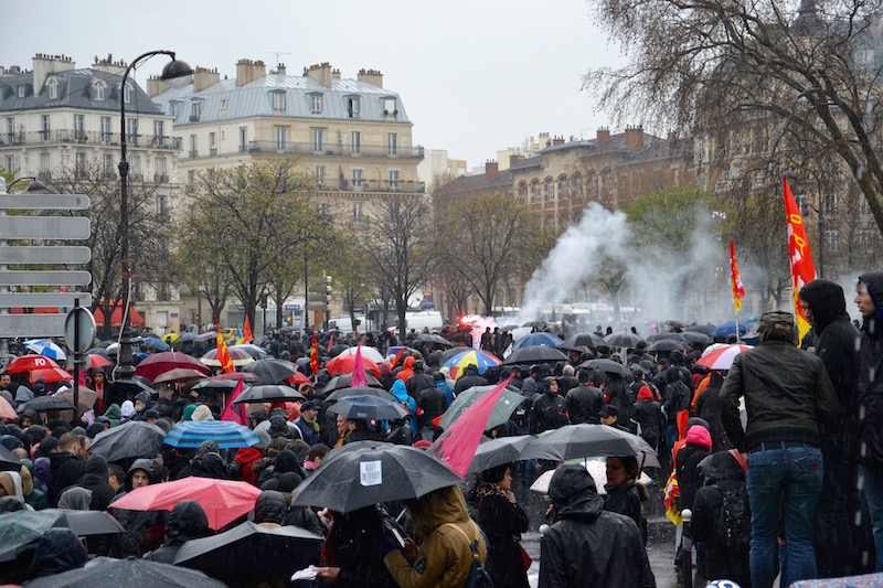 Manifestation du 31 mars 2016 Arrivée Place de la Nation dans le calme © VD Paris Tribune.