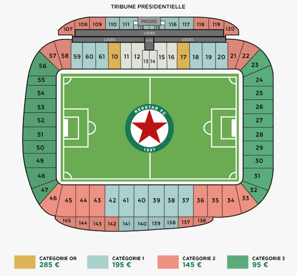 Le Red Star au Stade Jean Bouin dans le 16e arrondissement de Paris à partir du mois de septembre 2016 © Red Star
