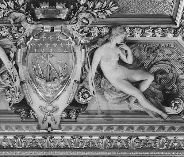 Plafond de l'Hôtel de Ville - détail © VD Paris Tribune.