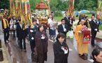 Les Reliques du Bouddha Shakyamuni accueillies en France.
