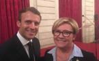 Patricia Gallerneau avait donné son parrainage à Emmanuel Macron pour la présidentielle © octobre 2017 FB Patricia Gallerneau.
