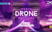 2e Festival de Drones sur les Champs-Elysées à Paris avenue piétonnière pour l'occasion