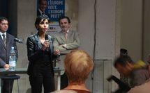 Rachida Dati accueillie par Jean-François Legaret