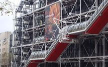 Centre Beaubourg : L'escalade de la grève