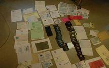 Découverte d'une officine clandestine de falsification de documents