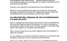Jean-Pierre Lecoq se bat-il pour garder le commissariat du 6e ?